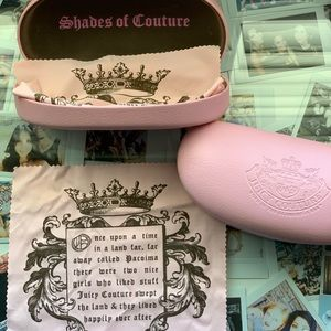 2x juicy couture sunglasses case